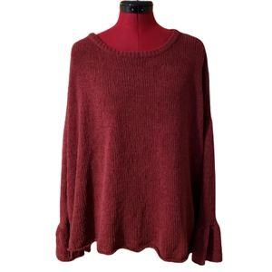Knox Rose Plush Ruffle Sweater